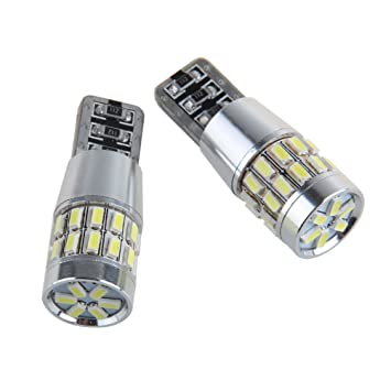 Super brillante 2x 30 SMD 3014 LED LED de reemplazo Can-Bus iluminación interior Bombilla LED 5W T10 blanco 360 ° Ángulo de haz: Amazon.es: Coche y moto