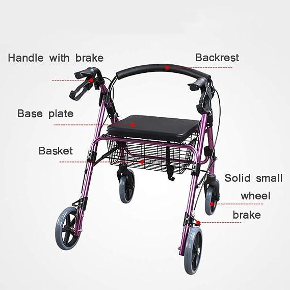 Andadores para discapacidad Andador de Cuatro Ruedas con tracción ...