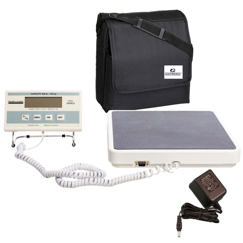 HealthOMeter 349KLX Medical Weight Scale w/ AC Adapter and Case