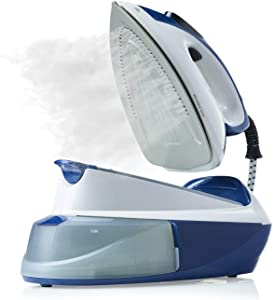 Reliable 120IS Maven Steam Iron - 1500W Ironing Station with Ceramic Soleplate, Iron Lock for Easy Carry, 1 LTR Removable Water Tank and Auto Shut-Off, Digital Display, Continuous Home Steam Iron