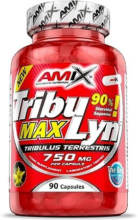 Amix - Tribulyn 90% - Suplemento Alimenticio - Aumenta la Fuerza y los Niveles de Testosterona - Desarrolla la Masa Muscular - Complemento Natural - ...