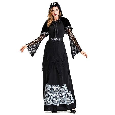 LUCKGXY Disfraz de Bruja Esqueleto, Traje de Disfraces ...