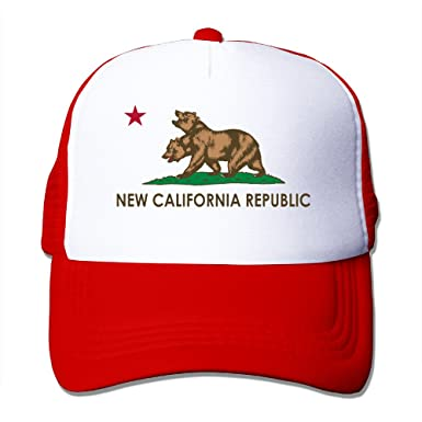 Fallout New California Republic NCR Trucker Mesh Snapback Hat Black   Amazon.co.uk  Clothing 4893b35ca7a