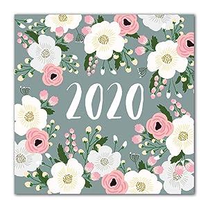 Orange Circle Studio 2020 Wall Calendar, Secret Garden