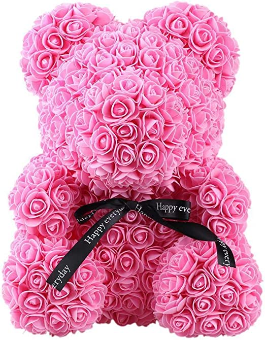 "15/"" Pink Rose Bear Flower Foam Teddy Bear Wedding Birthday Valentine/'s Day Gift"