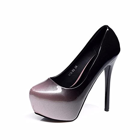 GTVERNH Scarpe da donna/scarpe estive/Odio High Sky Super Scarpe Con Tacchi Alti 14Cm Sexy Night Club Tacco Sottile…