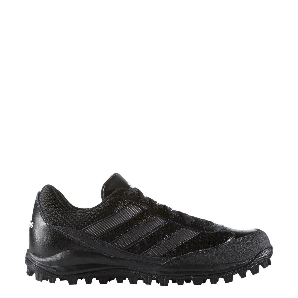 adidas Performance Men's Turf Hog LX Low Football Cleat,Black/Titaniam/White,7.5 M US