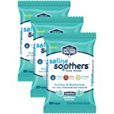 Wet Wipes for Face, Nose, Hands and Eyes, Allergy Relief, Pack of 3 Menthol Scent by Saline Soothers, Moisturizing Tissue, Boogie Wipe, 60 Wet Wipes