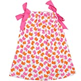 juDanzy cotton pillowcase dresses for girls & toddlers in various prints & sizes (4-6 Years, Ellie Elephant)