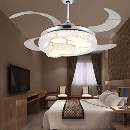 Magnificent Rs Lighting Romantic Crystal Heart Shape Ceiling Fan With Home Remodeling Inspirations Cosmcuboardxyz