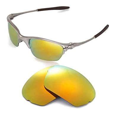 1d3cbf1f1a Walleva Replacement Lenses for Oakley Half X Sunglasses - Multiple Options  (24K Gold Mirror Coated - Polarized)  Amazon.co.uk  Clothing