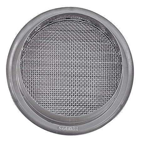 pared para garaje ba/ño cocina protecci/ón contra la intemperie /Ø 125 mm Rejilla de ventilaci/ón l/áminas de acero inoxidable etc. /Ø 75 100 110 125 150 mm canalizado redondo antiinsectos