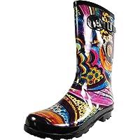 NORTY - Womens Hurricane Wellie Solid Gloss Mid-Calf Rain Boot, Hunter 38738-6B(M)US