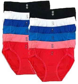 8fbe3b531d83 Amazon.com: Underwear for Women Bikini Underwear 12 Pack Low Rise ...
