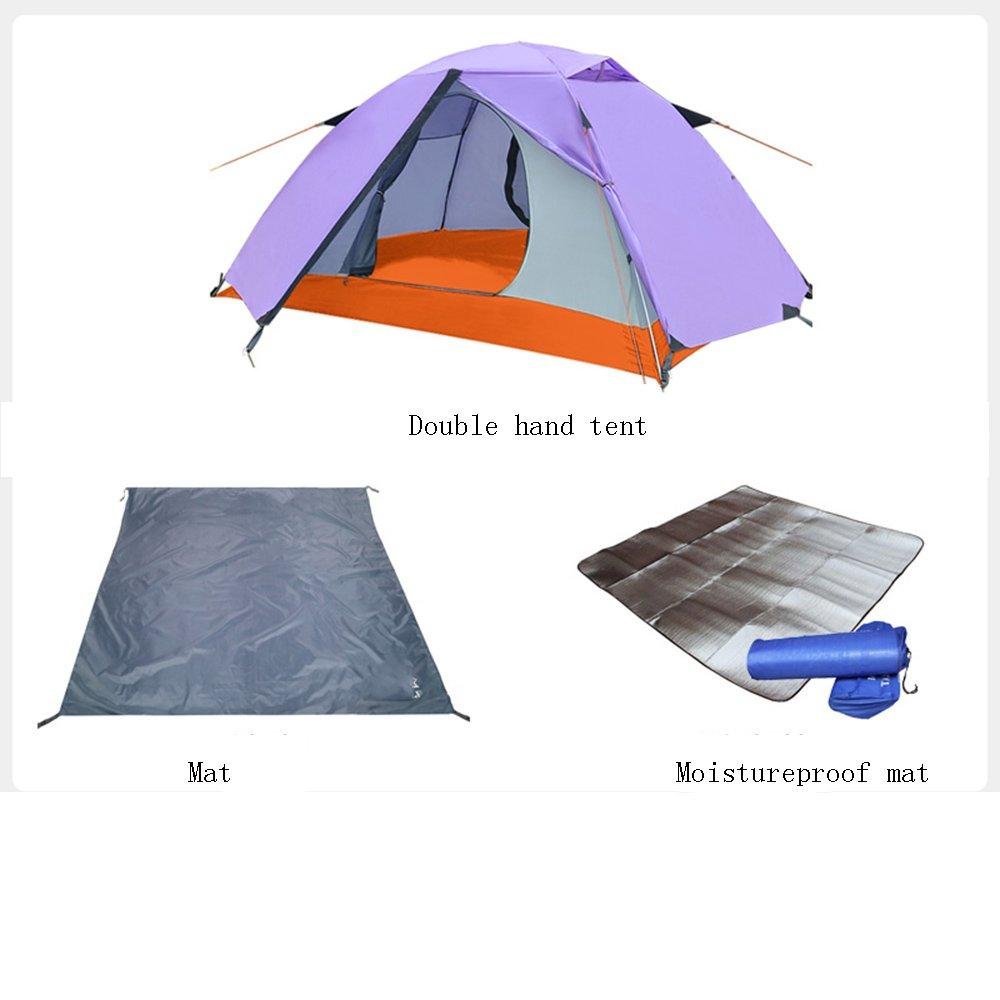 QFFL zhangpeng zhangpeng テントダブルアルミポールキャンプテント二人テント屋外ビーチキャンプテントセット2色オプションセット sets) トンネルテント 3 (色 : A, サイズ さいず : 3 sets) 3 sets A B07C4TNH4C, 北大東村:79861acf --- ijpba.info