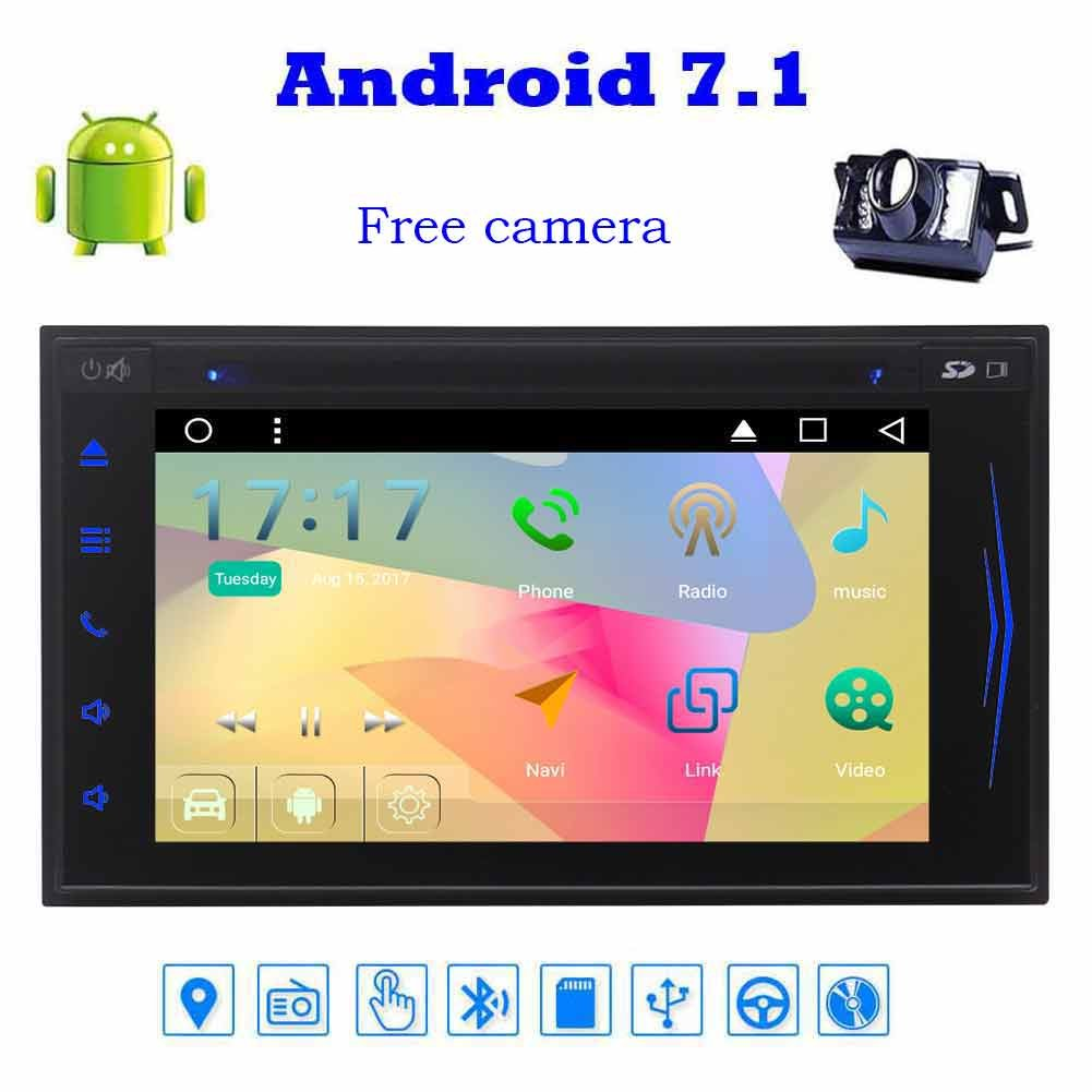 New Developed Android 7.1 Car Stereo car accessories with Octa-Core Double Din 7'' Touchscreen Car DVD Player 1080P Video In Dash Navigation Vehicle GPS Unit Radio Audio Receiver Support Bluetooth WiFi+Reversing Camera B076H3X93Y