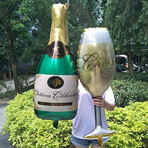 Champagne Cup Beer Bottle Aluminum Foil Balloons Wedding Decoration Balloon Birthday Party Decorations Kids Bachelorette Party