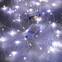 Amazon Price History for:Fairy Lights Battery Operated, SINAMER 2 Pack 16.5Ft 50 LED Chrismas Decor String Lights, Copper Wire String Lights…