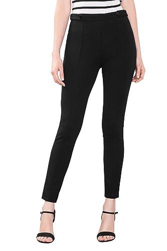 ESPRIT Collection 086EO1B015, Pantalones Mujer, Negro (BLACK), W36/L32 (Talla del fabricante: 38)