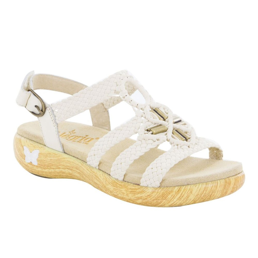 Alegria Women's Jena Slingback Sandals White Style JEN-620, 40
