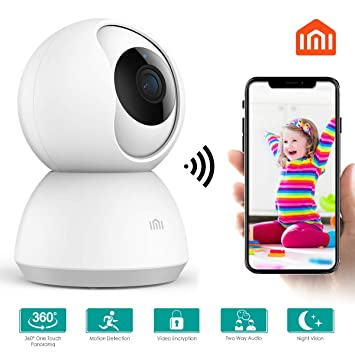 MI WiFi Camera 1080p, Xiaomi Smart Security Camera,360 Degree Smart Home  Camera Pan/Tilt/for Pet,Elder,Baby Monitor with Panoramic View Night