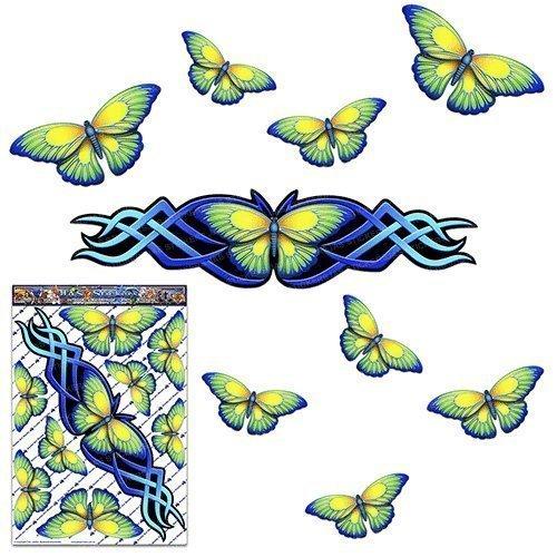 Papillon bleu grand autocollant pour voiture Caravanes Camions et bateaux ST00021BL_LGE - Autocollants JAS