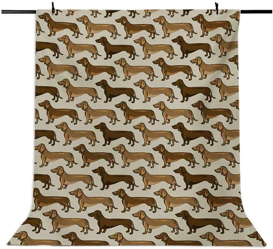 Dog Lover 10x15 FT Photo Backdrops,Cute Little Canines Pattern Cartoon Style Pet Animal Adorable Puppies Background for Baby Birthday Party Wedding Vinyl Studio Props Photography Brown Caramel Beige
