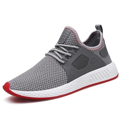 STRIR Zapatillas de Running Padel para Hombres Zapatos Deportivas Gimnasio Correr Deportes de Exterior y Interior