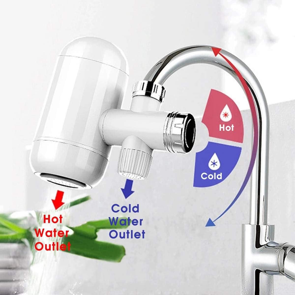KIODS Grifo Calentador de Agua Grifo Cocina Instant/ánea 3000W Pantalla Digital Agua fr/ía fr/ía Sin Tanque Calentador de Agua el/éctrico Grifo