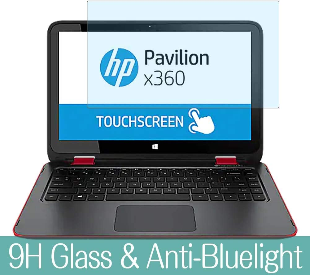 """Synvy Anti Blue Light Tempered Glass Screen Protector for HP Pavilion x360 13-a000 / a010dx / a010nr / a048ca / a085no / a013cl / a001na 13.3"""" Visible Area Screen Film Protectors"""