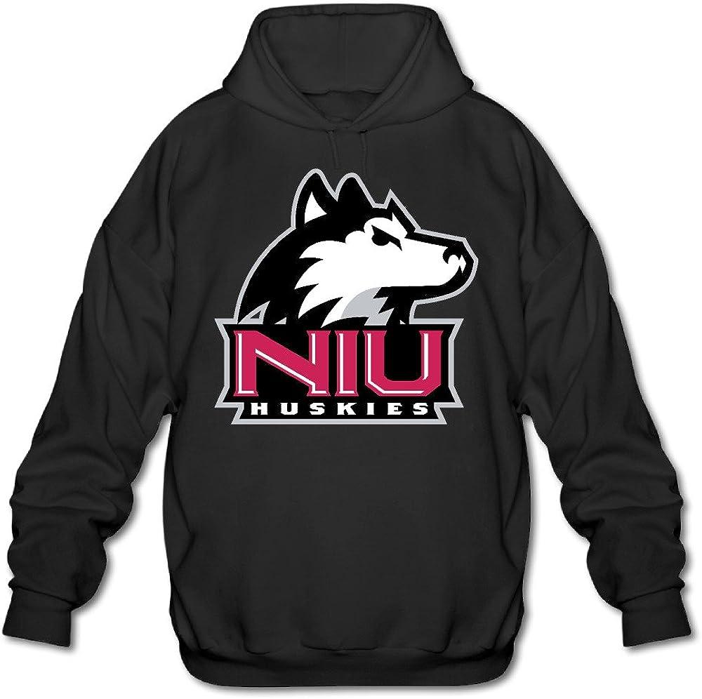 AuSin Men's Northern Illinois University Sweatshirt Black
