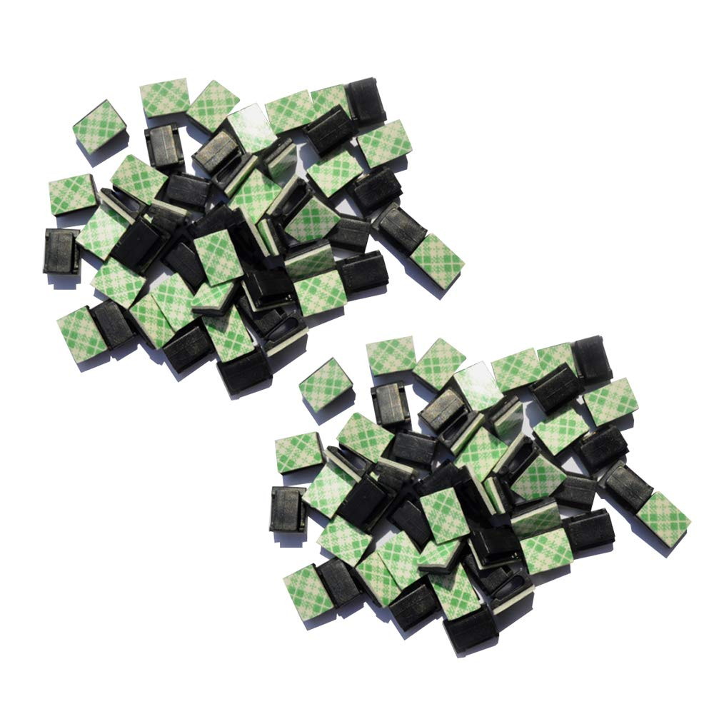 Festnight 50Pcs Fasty Cable Buckle Wiring Buckle Flat Wired Fastener per Vehicle Driving Recorder Navigator GPS Scanner per auto