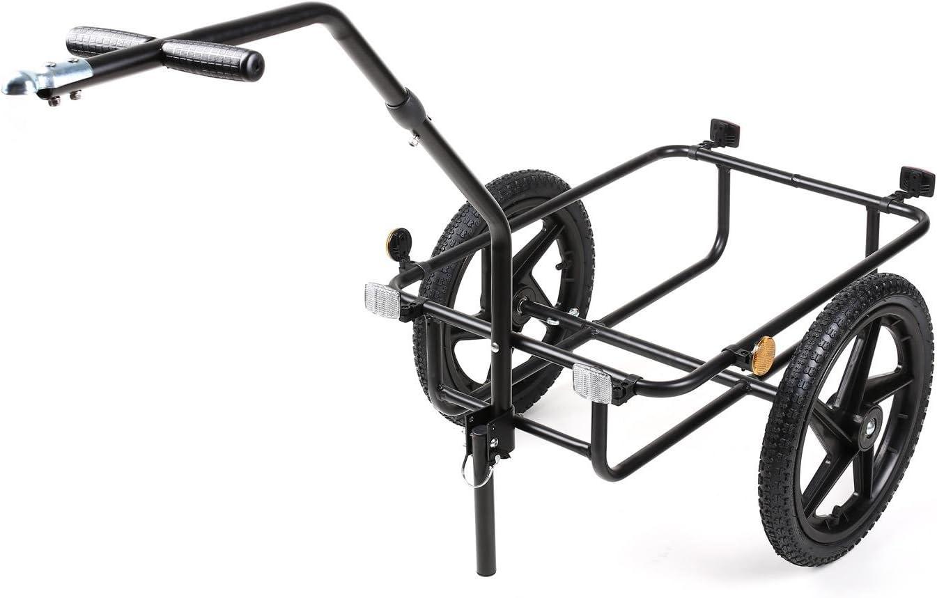 Cesta Extraible, Estructura Metalica, 40kg MAX, Lona Impermeable, Apto Uso como Carrito, neumaticos con Valvula Remolque para Bicicletas 70 L Duramaxx Big Mike