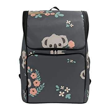 Toprint Backpack Cute Animal Koala Bear Shoulder Travel Bag