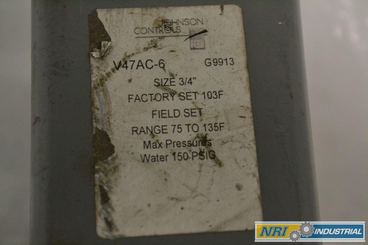 JOHNSON CONTROLS V47AC-6 TEMPERATURE BRONZE THREADED 3//4 IN GLOBE VALVE B274882