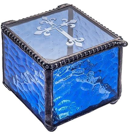 Amazon.com: Caja de cristal con cruz grabada, regalo de ...