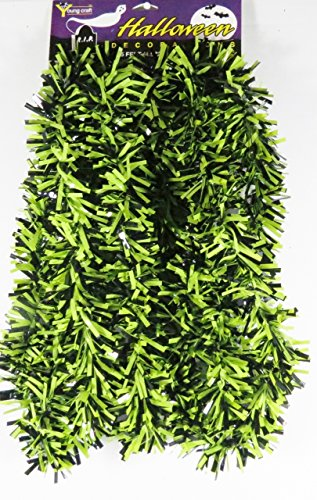 Made in USA Harvest Halloween Garland - Green and Black-15 Feet (Green Black) ()