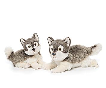 Amazon Com Nat And Jules Alert Small Wolf Friend Wispy Charcoal