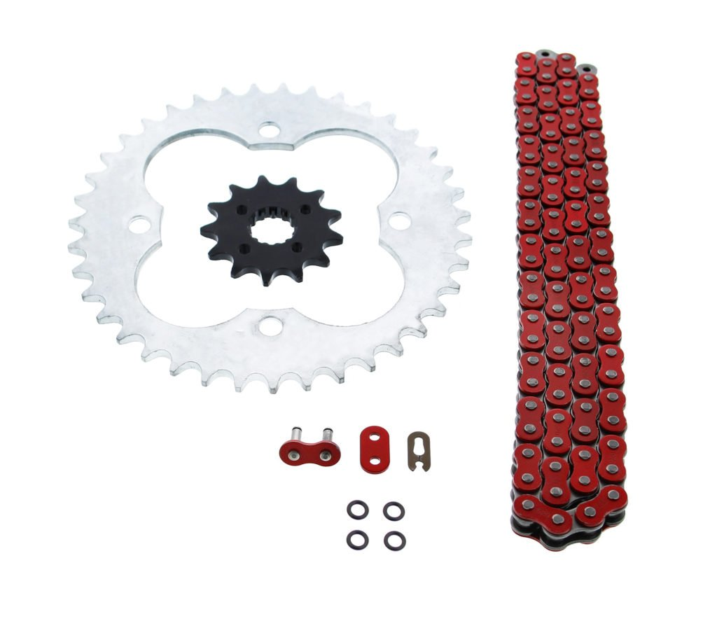 2005-2008 Honda 400EX TRX400EX 520-94 Red O Ring Chain & Sprocket Silver 13/39 CycleATV