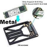 """M.2 NGFF SATA SSD to 2.5"""" SATA Enclosure, Mini PCIe SSD Adapter SATA to mSATA Only Support B & M Key SATA Based NGFF M.2 SSD Converter to 2.5 Inch SATA 3.0 Card Support 2230 2242 2260 2280 2.5 SATA"""