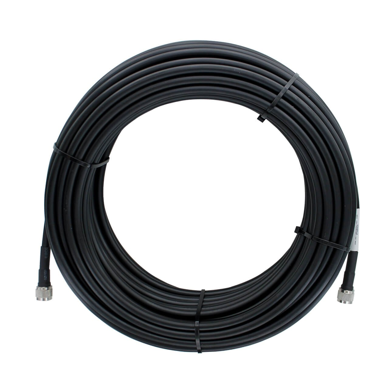 Bolton400 100ft 50-ohm N-Male to N-Male Black Coax Cable - Low Loss Coaxial LMR400 Spec