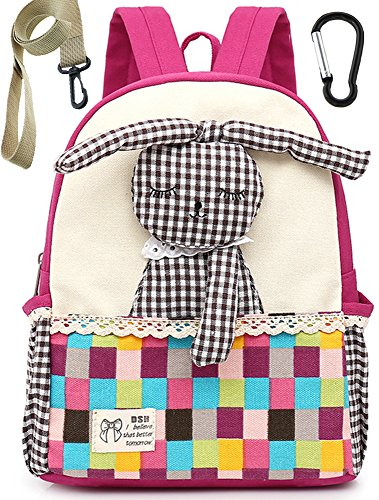 Children Toddler Backpack Preschool Safety Harness Rabbit Bunny for Girls(Pink)]()