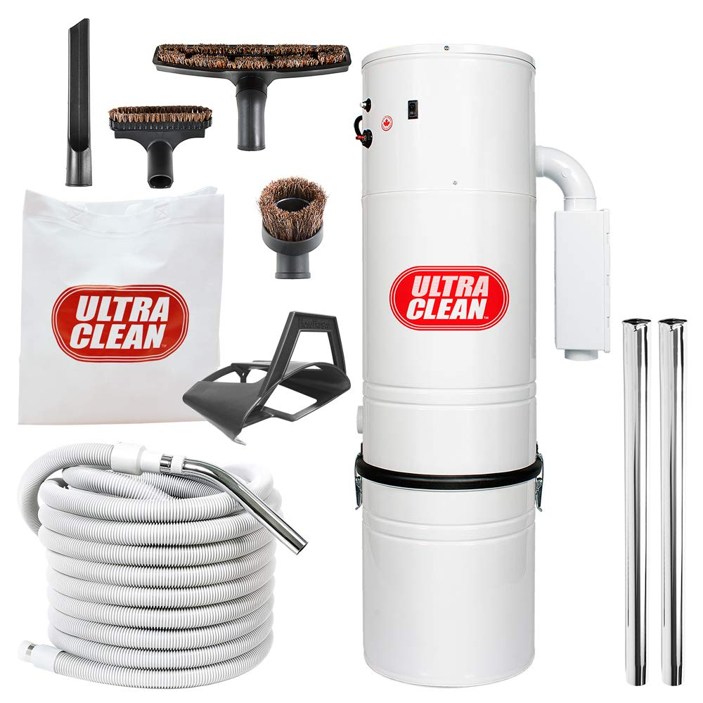 Ultra Clean Central Vacuum Unit 7,500 sq. ft. with 30' Hose Cleaning Attachment Set by Ultra Clean