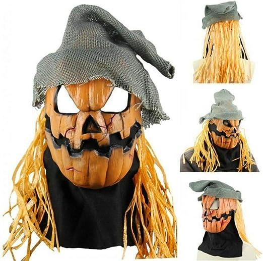 Eli-CHANBG 1 máscara de látex para Halloween, diseño de Calabaza ...