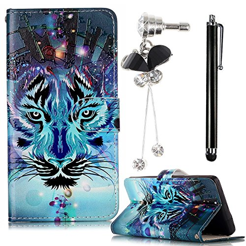 Case for Samsung Galaxy S8 Plus(2017),Sunroyal Fancy Embossed Pattern Blue Wallet Case with Card/Cash Slots [Kickstand] PU Leather Flip Cards Holders Cover&Glitter Dust Plug& Metal Stylus-Wolf