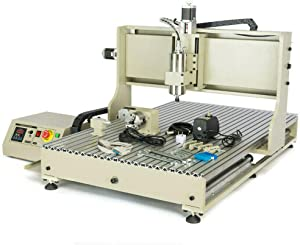 1500W USB 6090 4 Axis CNC Router Engraver Engraving Desktop 3D Engraving Drill & Milling Machine VFD PCB+ RC Wood Metal Steel Miller Cutter USA Stock