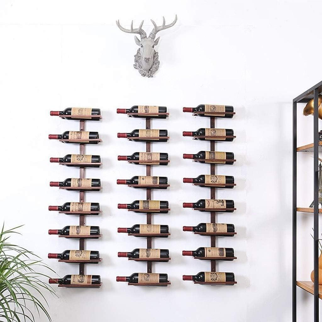 DUDDP Porte-bouteille de Vin Porte-bouteilles Porte-bouteilles Porte-bouteilles Support /à vin mural en fer forg/é vertical 8 bouteilles support de rangement daffichage robuste et robuste