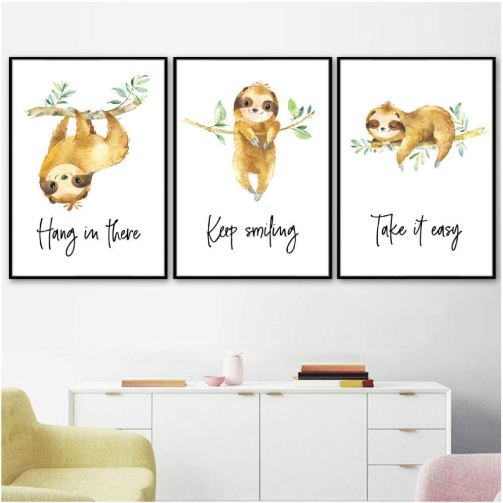 Amazon Com Cute Sloth Tree Nursery Wall Art Canvas Painting Cartoon Animal Nordic Posters And Prints Wall Pictures Girl Boy Kids Room Decor 40x60cmx3 No Frame Posters Prints 1,058 3d cartoon tree models available for download. cute sloth tree nursery wall art canvas painting cartoon animal nordic posters and prints wall pictures girl boy kids room decor 40x60cmx3 no frame