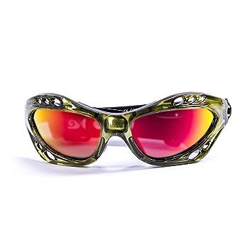 OCEAN SUNGLASSES Cumbuco - lunettes de soleil polarisÃBlackrolles - Monture : Vert Transparent - Verres : Revo Jaune (15001.5) bz6HF