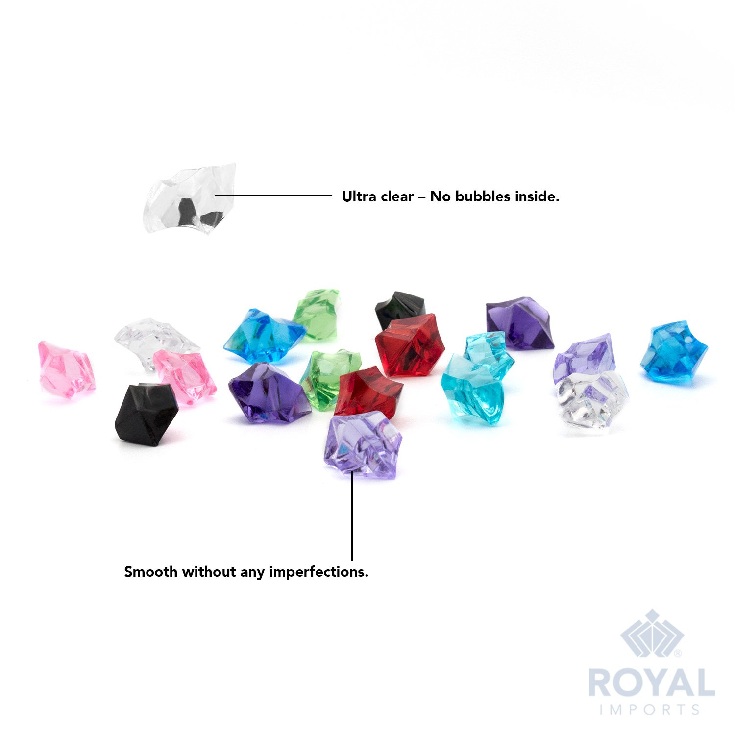 Wedding Acrylic Gems Ice Crystal Rocks for Vase Fillers 3 LBS Party Decoration - Aqua Party Table Scatter Approx 580-600 gems Crafts by Royal Imports Photography